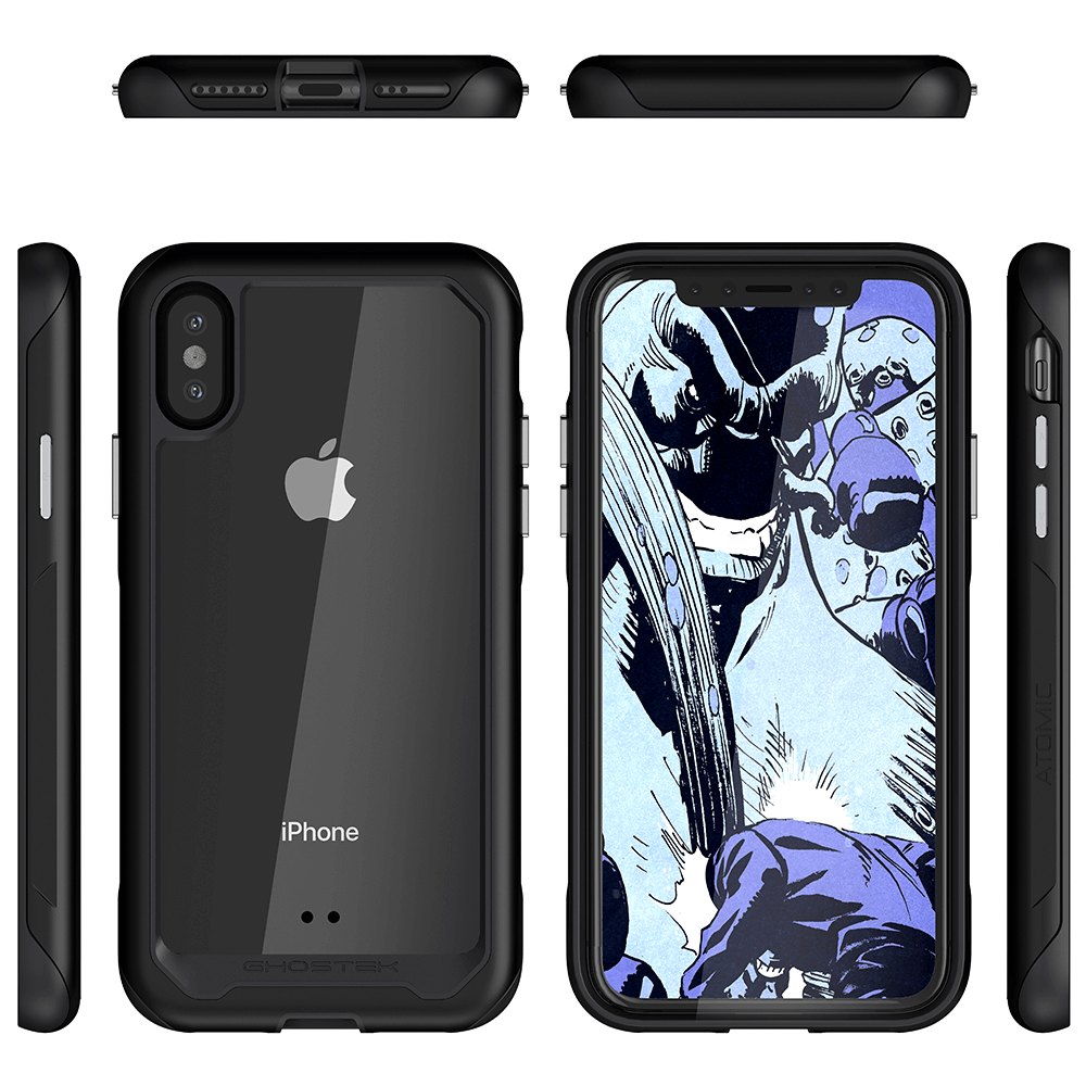 iPhone Xs Case, Ghostek Atomic Slim 2 Series  for iPhone Xs Rugged Heavy Duty Case|BLACK