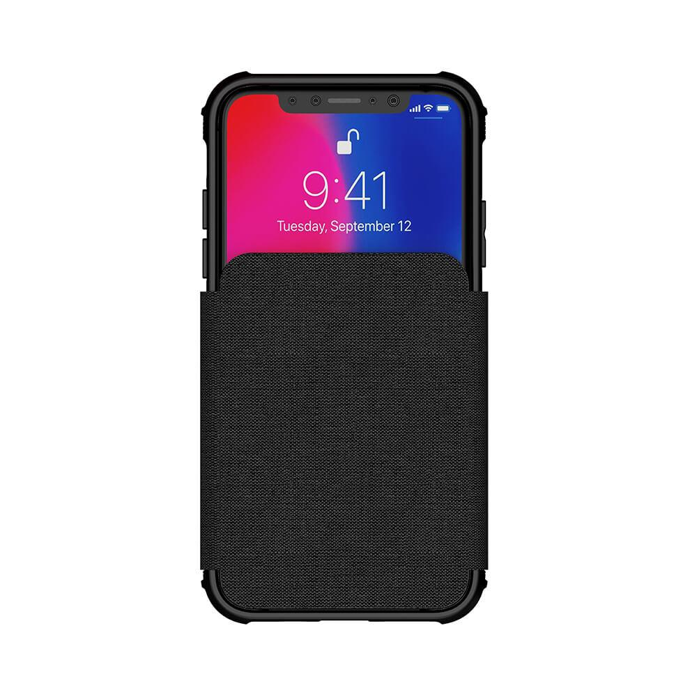 iPhone Xs Case, Ghostek Exec 3 Series for iPhone Xs / iPhone Pro Protective Wallet Case [BLACK]