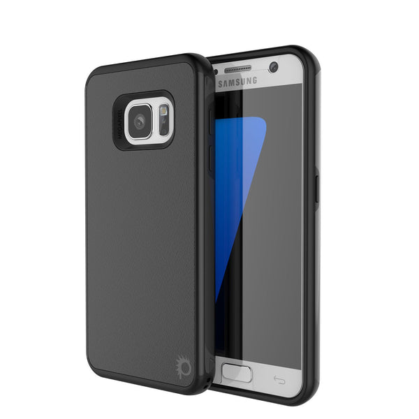 PUNKCASE - Galatic Series Protective Armor Case for Samsung S7 Edge | Black