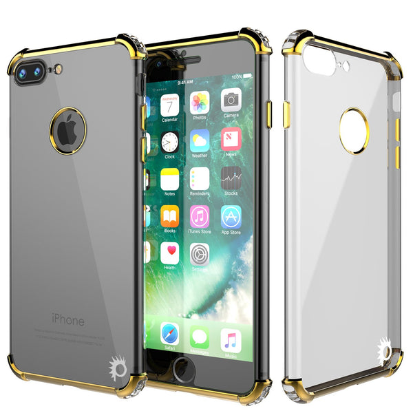 iPhone 7 PLUS Case, Punkcase [BLAZE Gold SERIES] Protective Cover W/ PunkShield Screen Protector