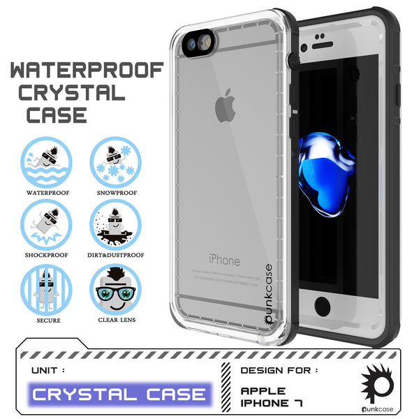 PUNKCASE - Crystal Series Waterproof Case for Apple IPhone 7 | White