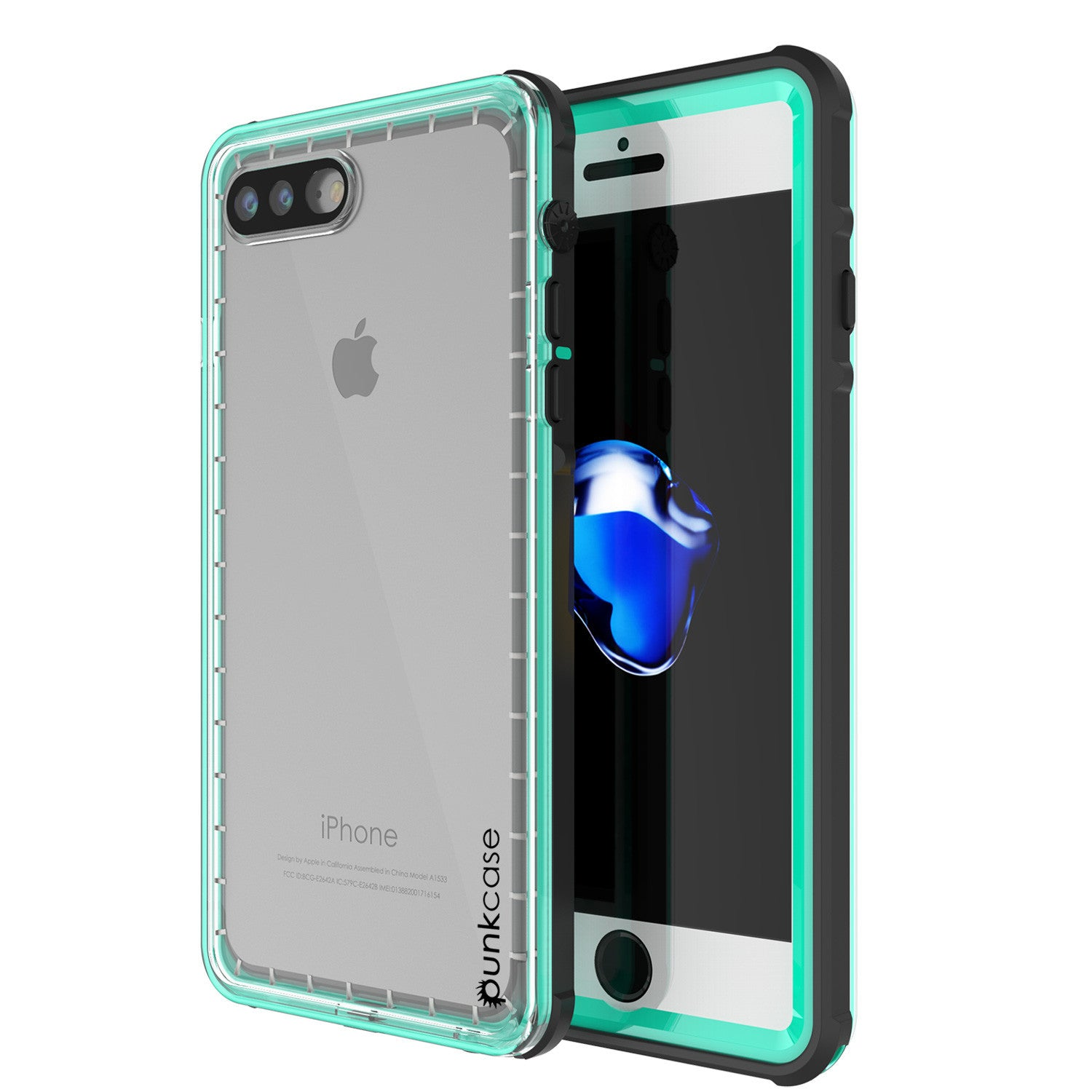 PUNKCASE - Crystal Series Waterproof Case for Apple IPhone 7+ Plus | Teal