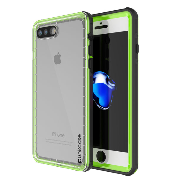 PUNKCASE - Crystal Series Waterproof Case for Apple IPhone 7+ Plus | Light Green