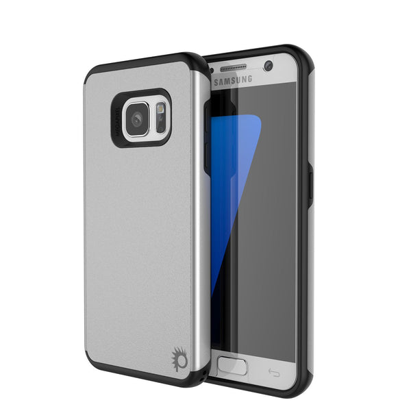PUNKCASE - Galatic Series Protective Armor Case for Samsung S7 Edge | Silver