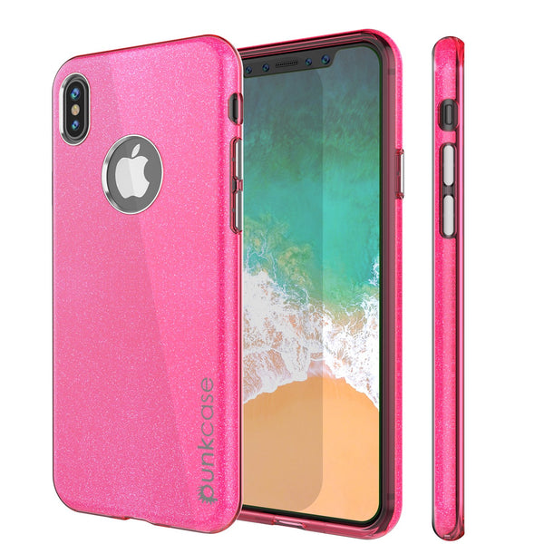 iPhone X Case, Punkcase Galactic 2.0 Series Ultra Slim w/ Tempered Glass Screen Protector | [Pink]