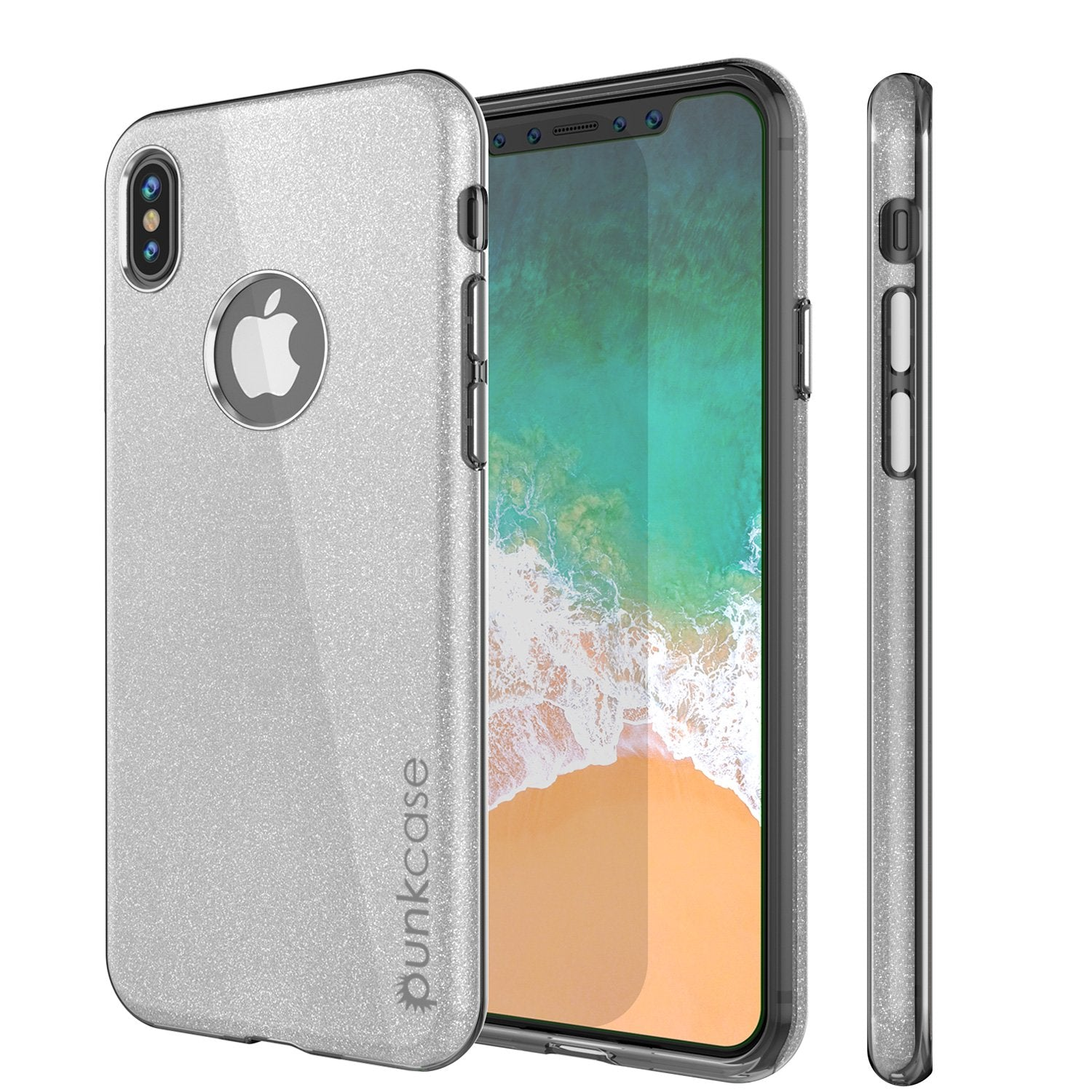 iPhone X Case, Punkcase Galactic 2.0 Series Ultra Slim w/ Tempered Glass Screen Protector | [Silver]