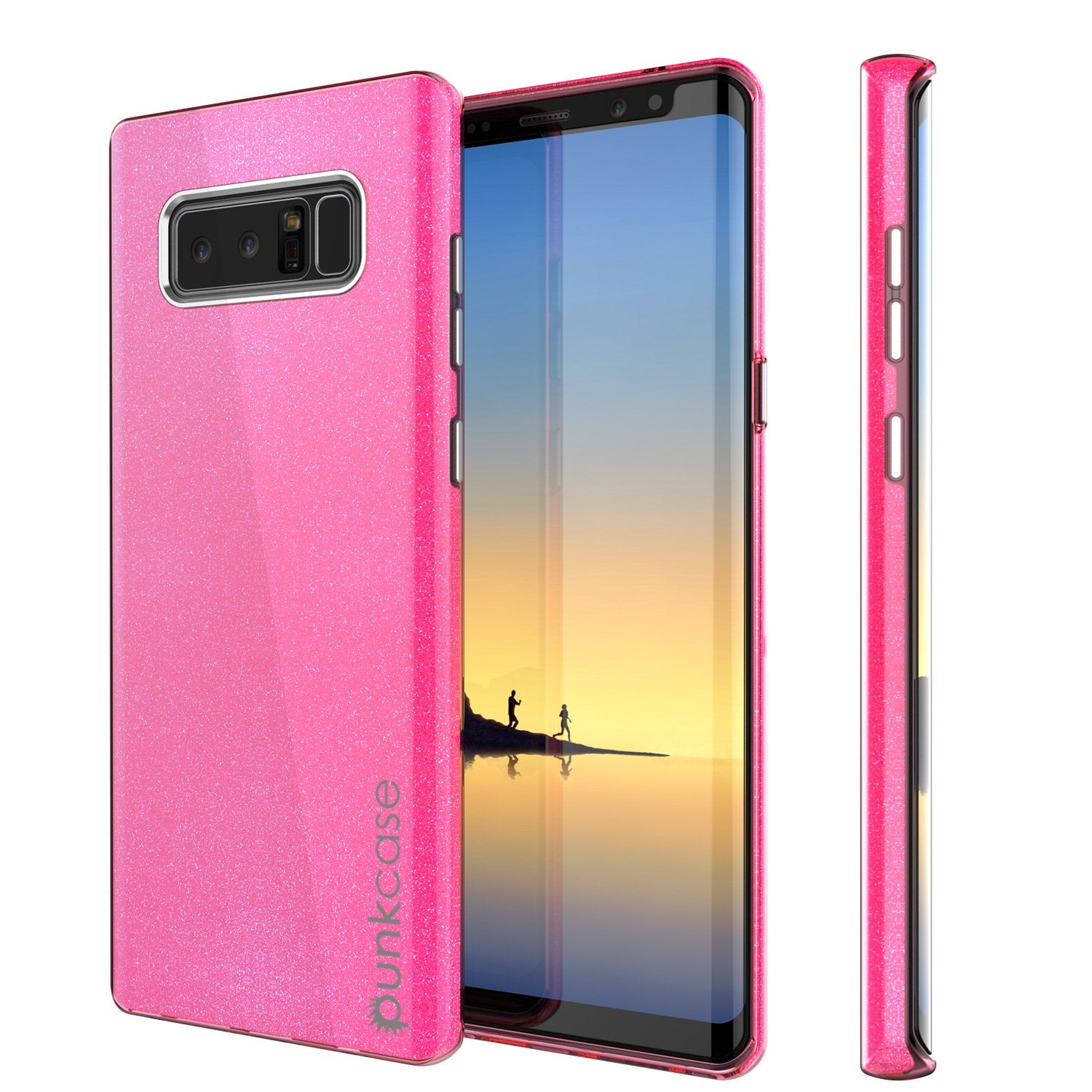 Galaxy Note 8 Case, Punkcase Galactic 2.0 Series Ultra Slim Protective Armor [Pink]