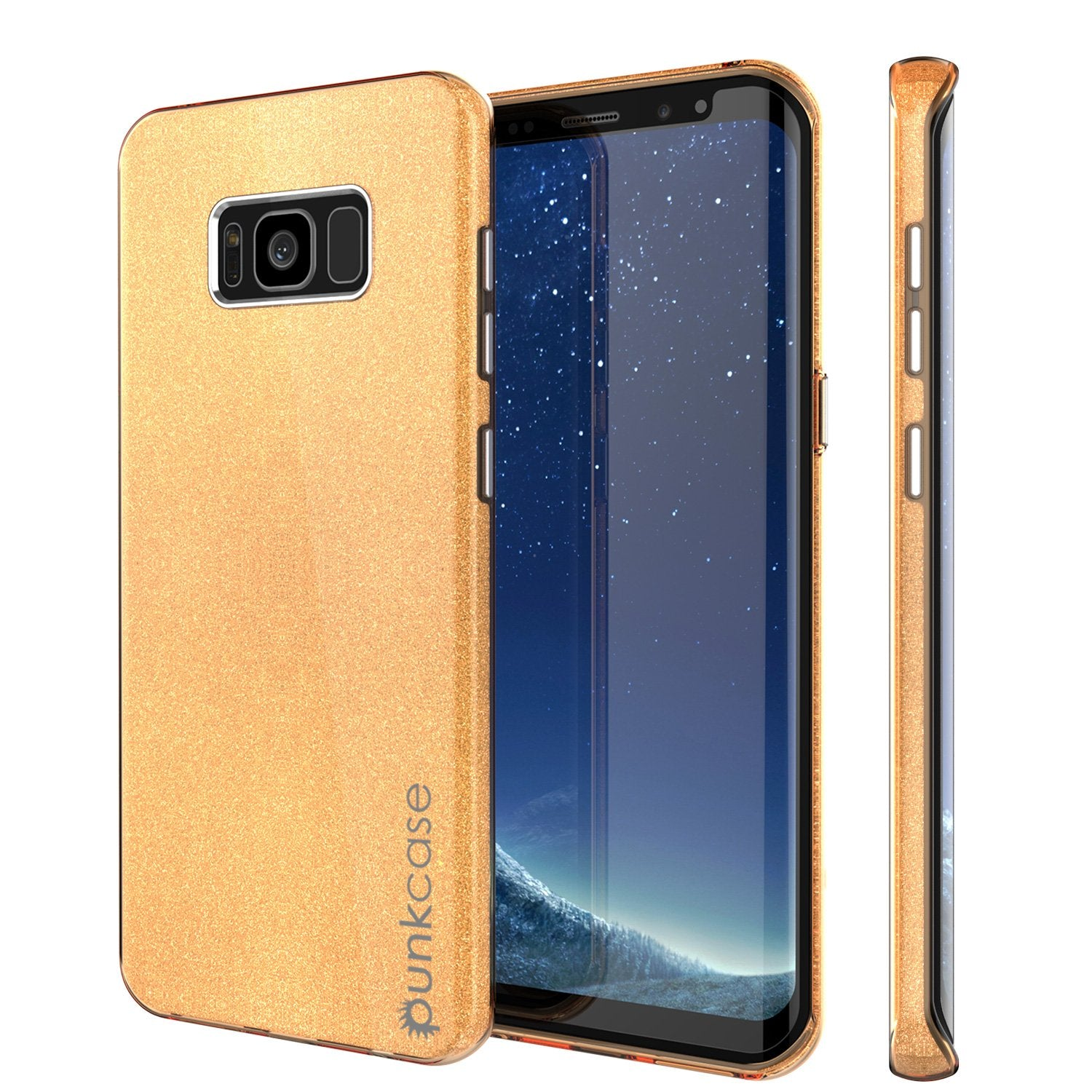 Galaxy S8 Case, Punkcase Galactic 2.0 Series Ultra Slim Protective Armor TPU Cover w/ PunkShield Screen Protector [Gold]