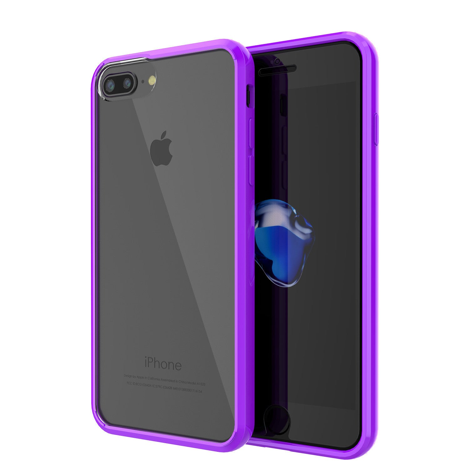 PUNKCASE - Lucid 2.0 Series Slick Frame Case for Apple IPhone 7 | Purple