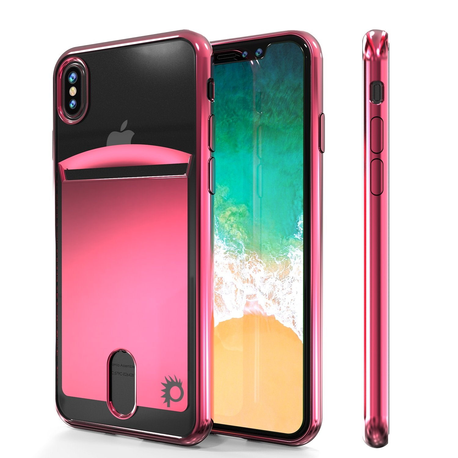 iPhone 8 Case, PUNKcase [LUCID Series] Slim Fit Protective Dual Layer Armor Cover W/ Scratch Resistant Screen Protector [Rose Pink]