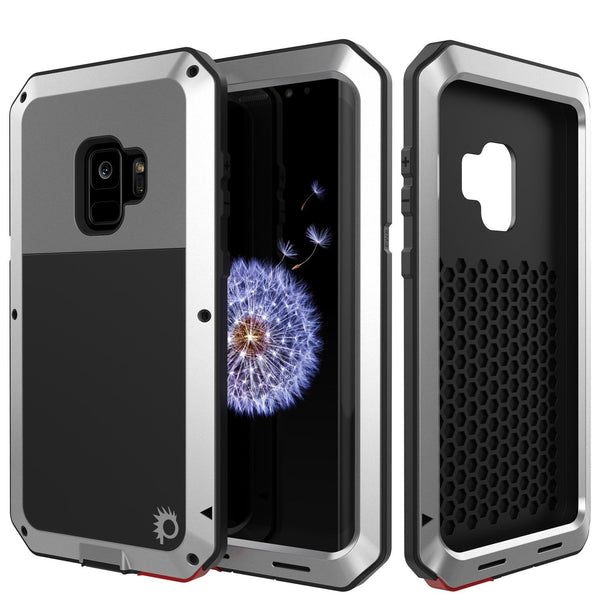 Galaxy S10+ Plus Metal Case, Heavy Duty Military Grade Rugged Armor Cover [Silver]