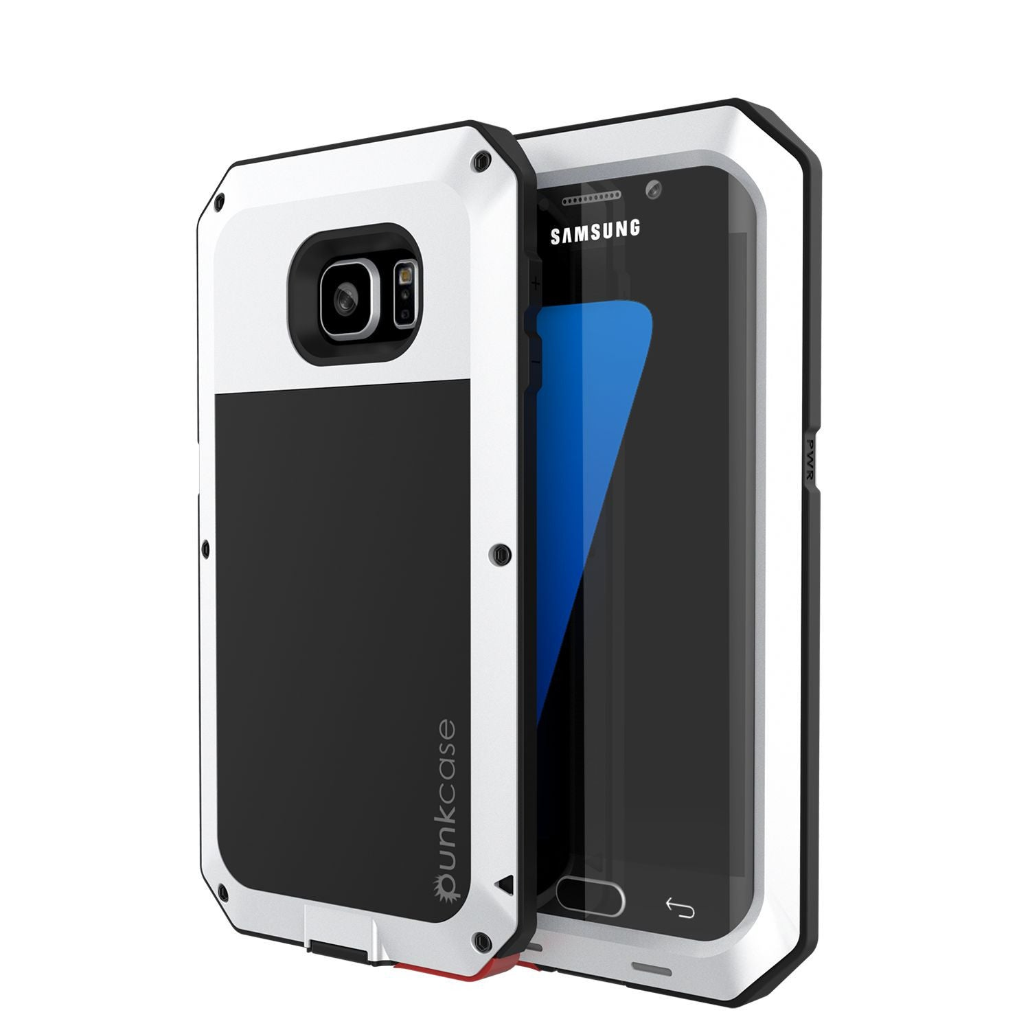 PUNKCASE - Metallic Series Shockproof Armor Case for Samsung S7 Edge | White