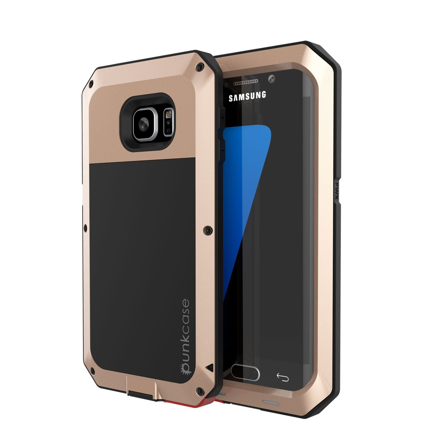 PUNKCASE - Metallic Series Shockproof Armor Case for Samsung S7 Edge | Gold