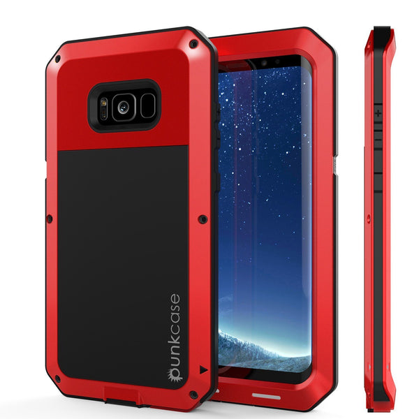 Galaxy Note 9  Case, PUNKcase Metallic Red Shockproof  Slim Metal Armor Case [Red]