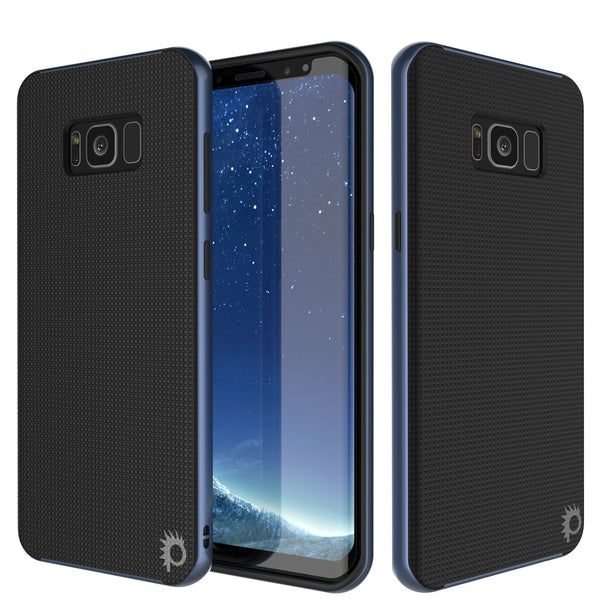 Galaxy S8 Case, PunkCase Stealth Navy Blue Series Hybrid 3-Piece Shockproof Dual Layer Cover