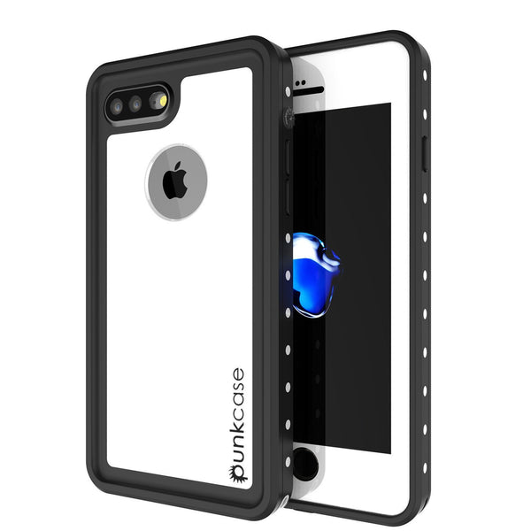 iPhone 8+ Plus Waterproof Case, Punkcase [StudStar] [White] [Slim Fit] [IP68 Certified] [Shockproof] [Dirtproof] Armor Cover