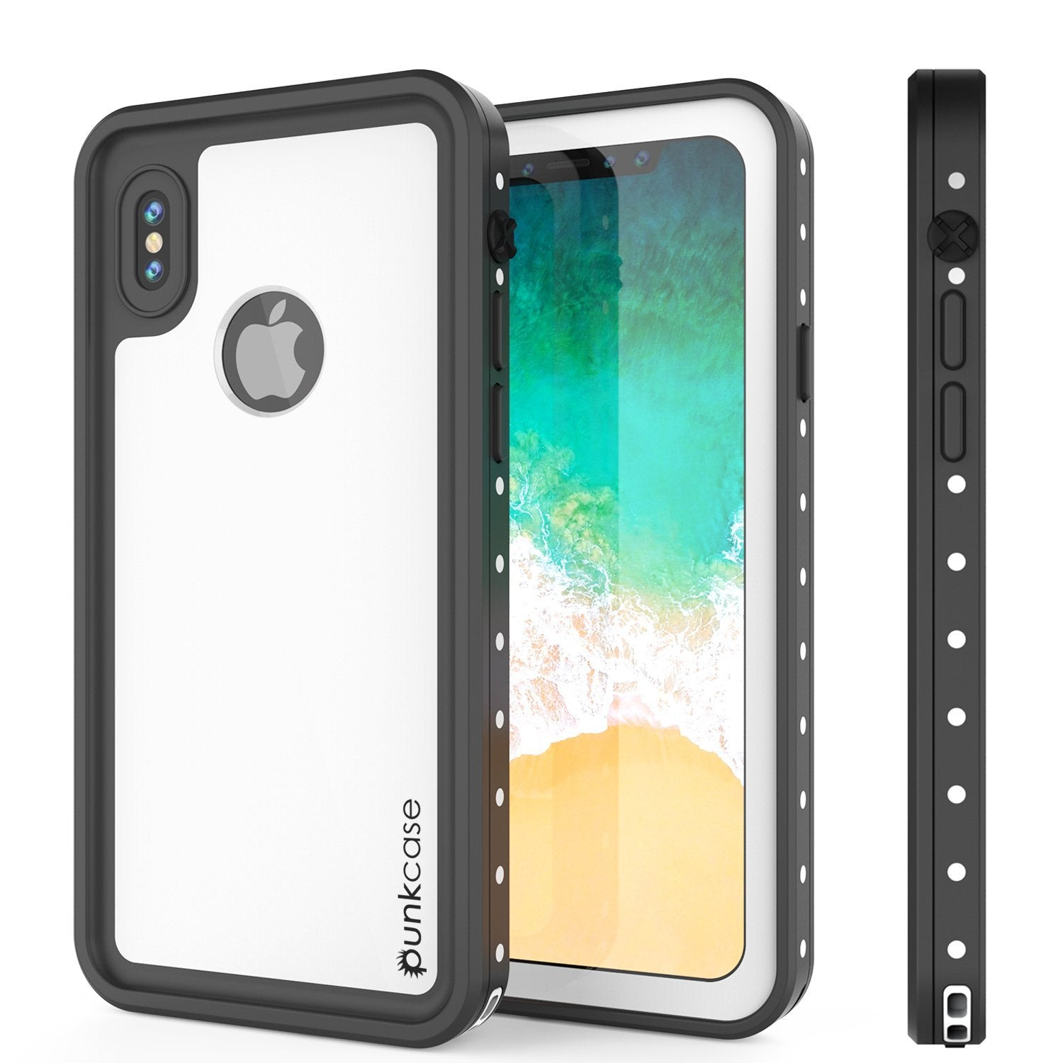 iPhone XS Max Waterproof IP68 Case, Punkcase [White] [StudStar Series] [Slim Fit] [Dirtproof]