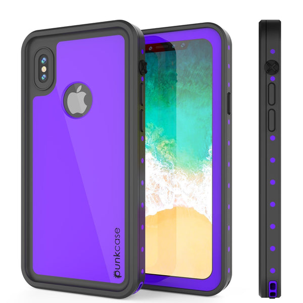 iPhone XR Waterproof IP68 Case, Punkcase [Purple] [StudStar Series] [Slim Fit] [Dirtproof]