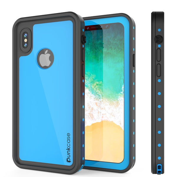 iPhone XR Waterproof IP68 Case, Punkcase [Light blue] [StudStar Series] [Slim Fit] [Dirtproof]
