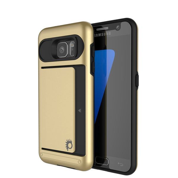 Punkcase Galaxy S7 EDGE Slim Armor Soft Cover | CLUTCH Gold Series
