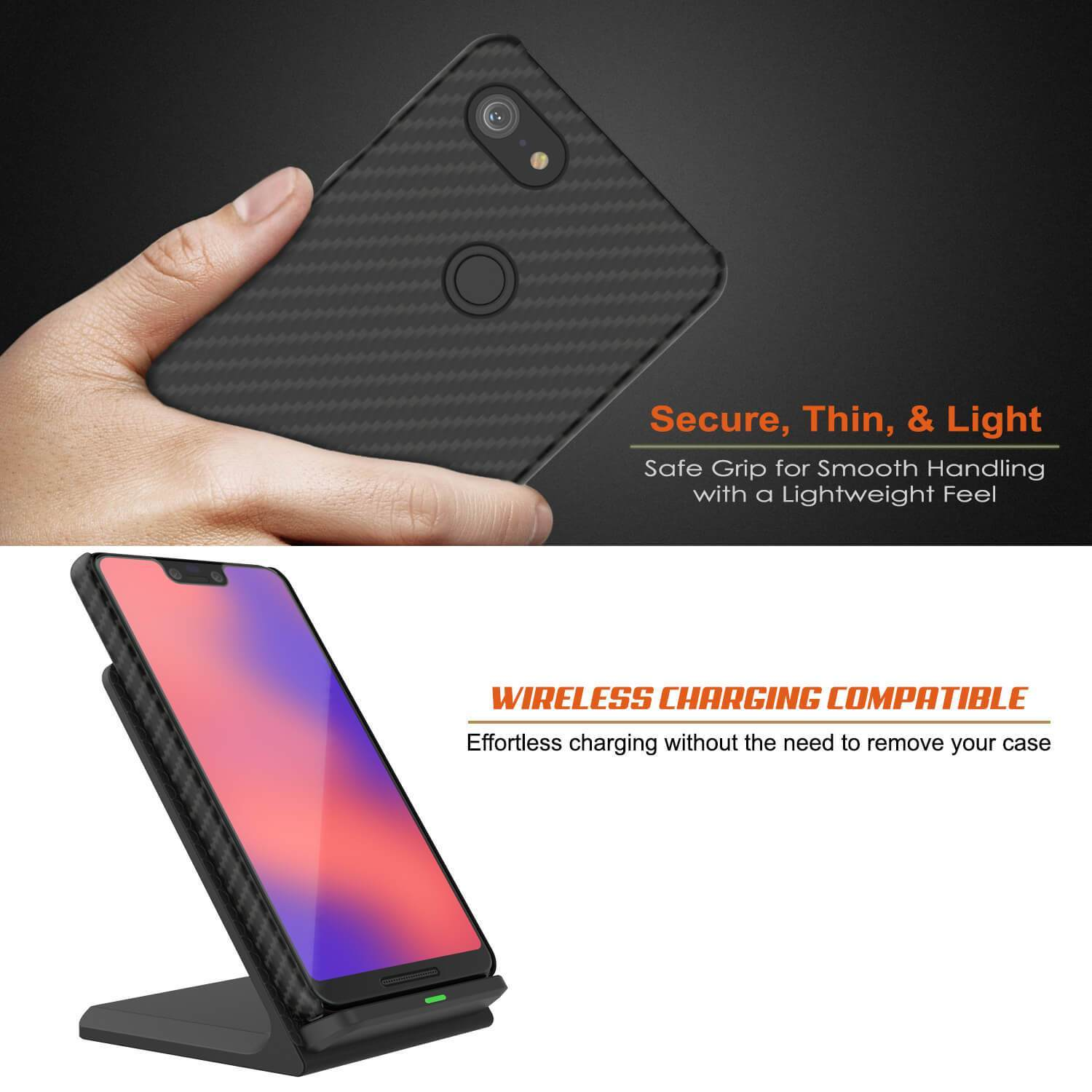 Google Pixel 4 XL CarbonShield Heavy Duty & Ultra Thin Leather Cover