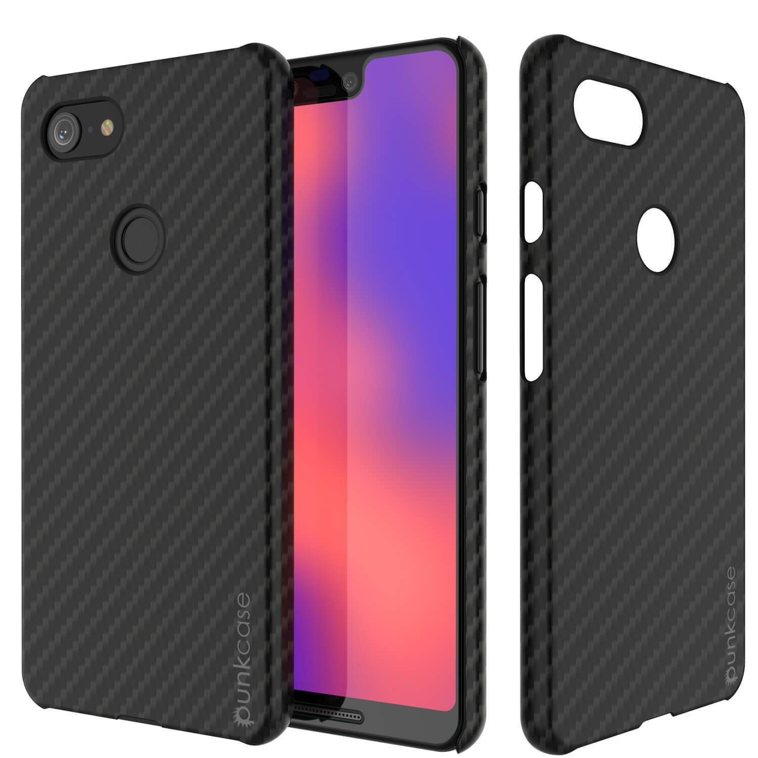 Google Pixel 3 XL CarbonShield Heavy Duty & Ultra Thin 2  Leather Cover