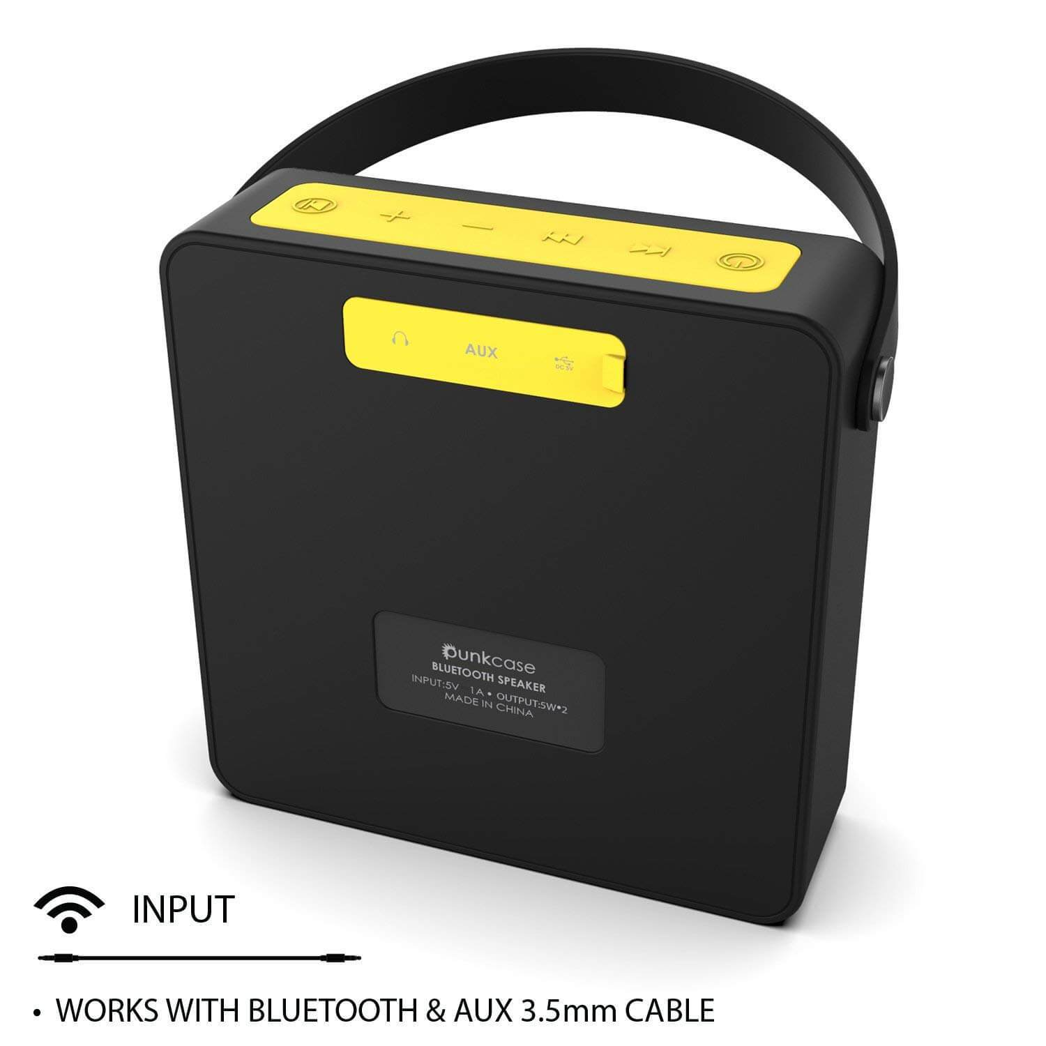 PUNKBOX Portable Wireless Bluetooth Speaker, Loud & Powerful for iPhone/Android [black]
