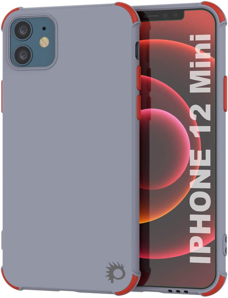 Punkcase Protective & Lightweight TPU Case [Sunshine Series] for iPhone 12 Mini [Grey]