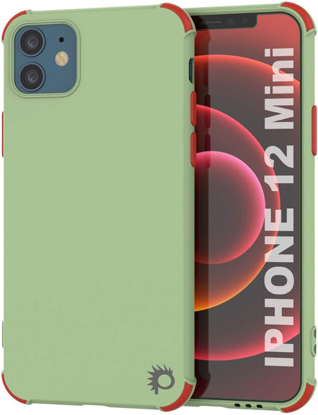 Punkcase Protective & Lightweight TPU Case [Sunshine Series] for iPhone 12 Mini [Light Green]