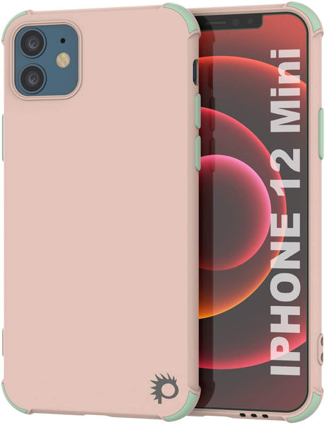 Punkcase Protective & Lightweight TPU Case [Sunshine Series] for iPhone 12 Mini [Pink]