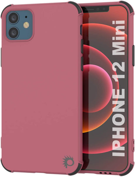 Punkcase Protective & Lightweight TPU Case [Sunshine Series] for iPhone 12 Mini [Rose]