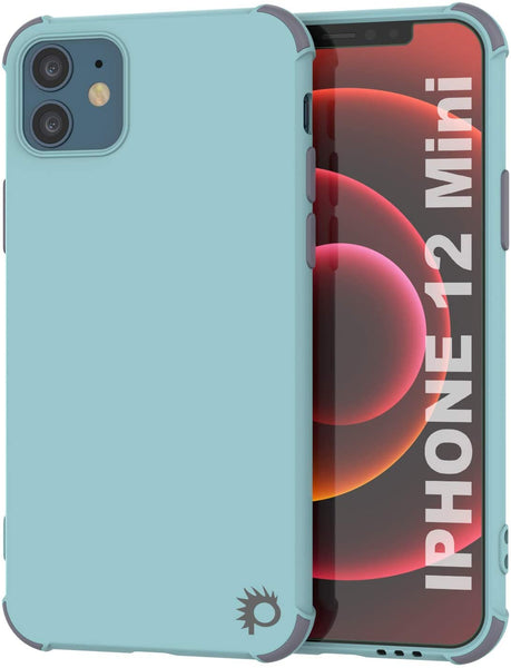 Punkcase Protective & Lightweight TPU Case [Sunshine Series] for iPhone 12 Mini [Teal]