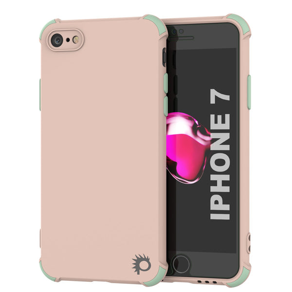 Punkcase Protective & Lightweight TPU Case [Sunshine Series] for iPhone 7 [Pink]
