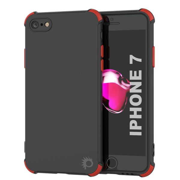 Punkcase Protective & Lightweight TPU Case [Sunshine Series] for iPhone 7 [Black]