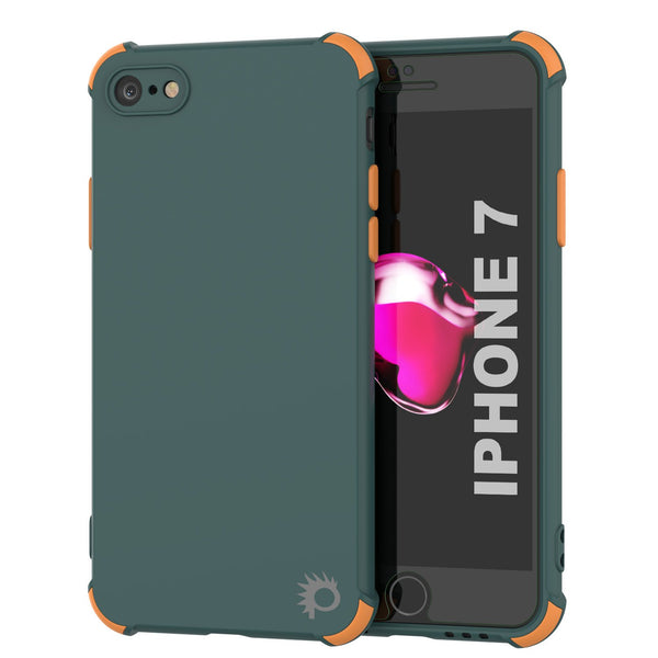 Punkcase Protective & Lightweight TPU Case [Sunshine Series] for iPhone 7 [Dark Green]