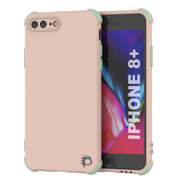 Punkcase Protective & Lightweight TPU Case [Sunshine Series] for iPhone 8+ Plus [Pink]