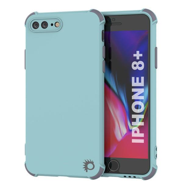 Punkcase Protective & Lightweight TPU Case [Sunshine Series] for iPhone 8+ Plus [Teal]