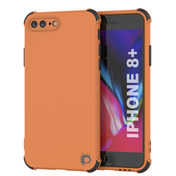 Punkcase Protective & Lightweight TPU Case [Sunshine Series] for iPhone 8+ Plus [Orange]