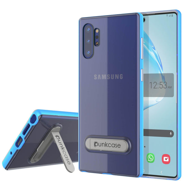 Galaxy Note 10+ Plus Lucid 3.0 PunkCase Armor Cover w/Integrated Kickstand and Screen Protector [Blue]
