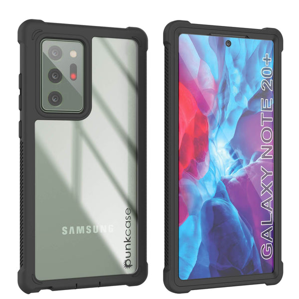 Punkcase Galaxy Note 20 Ultra Case, [Spartan Series] Clear Rugged Heavy Duty Cover W/Built in Screen Protector