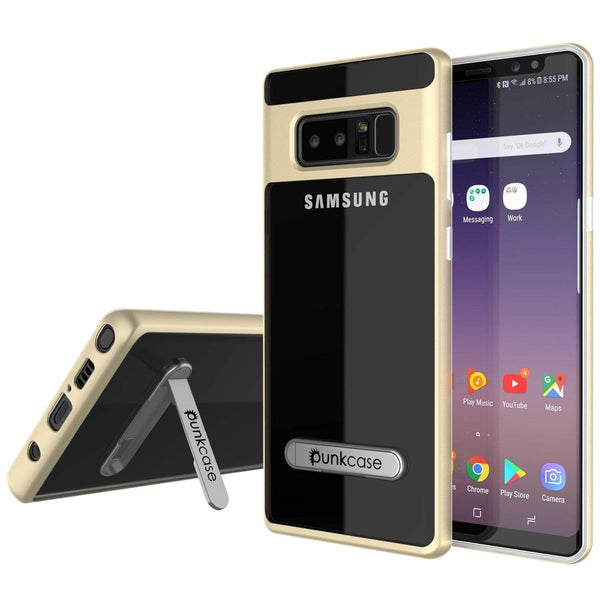 Galaxy Note 8 Case, PUNKcase [LUCID 3.0 Series] Armor Cover w/Integrated Kickstand [Gold]