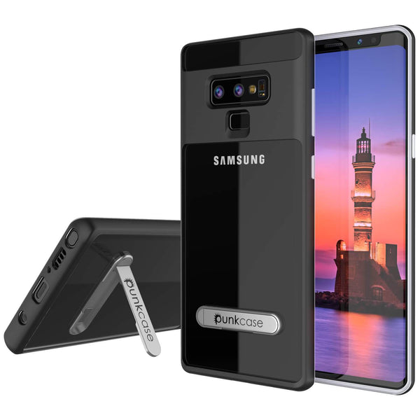 Galaxy Note 9 Lucid 3.0 PunkCase Armor Cover w/Integrated Kickstand and Screen Protector [Black]