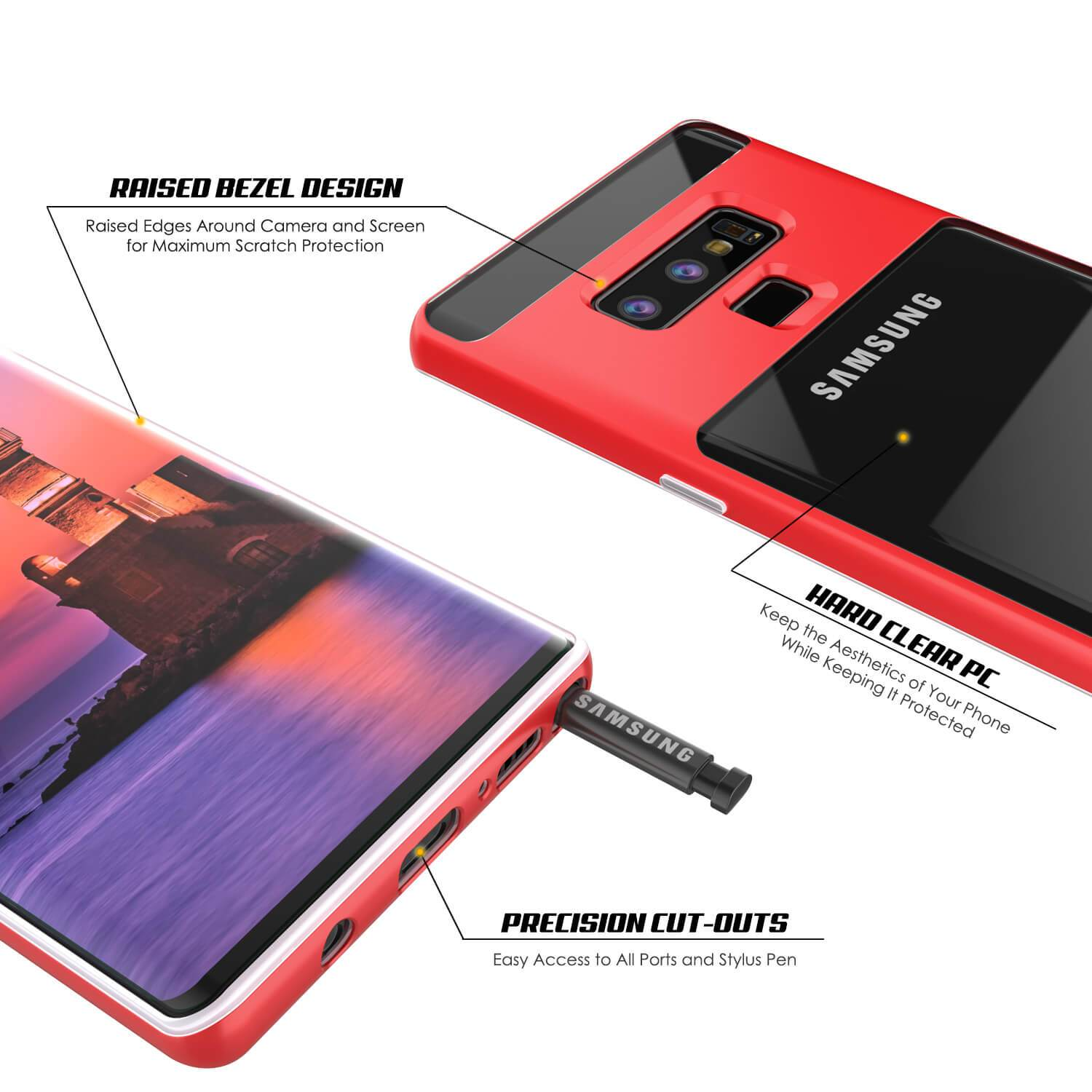 Galaxy Note 9 Lucid 3.0 PunkCase Armor Cover w/Integrated Kickstand and Screen Protector [Red]