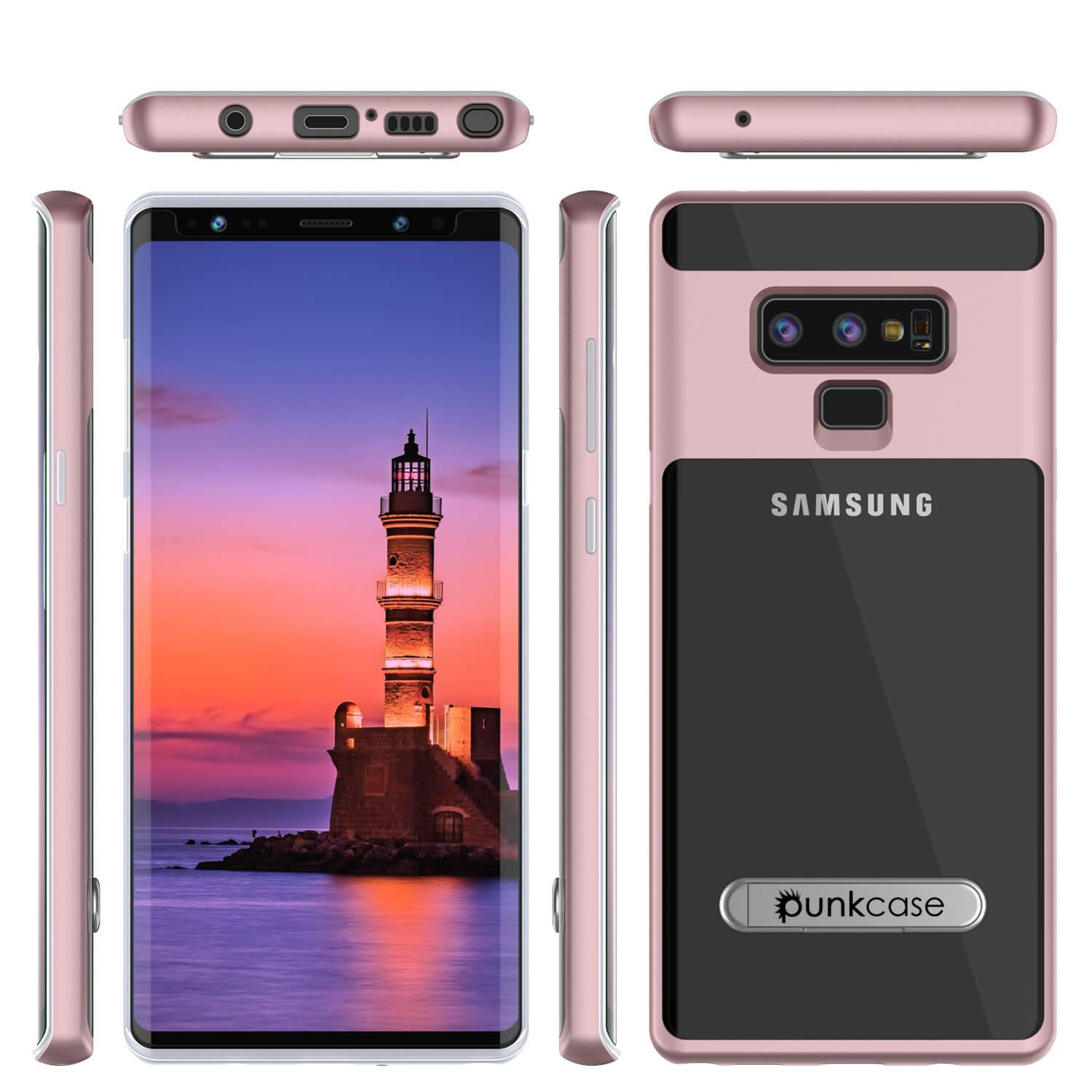 Galaxy Note 9 Lucid 3.0 PunkCase Armor Cover w/Integrated Kickstand and Screen Protector [Rose Gold]