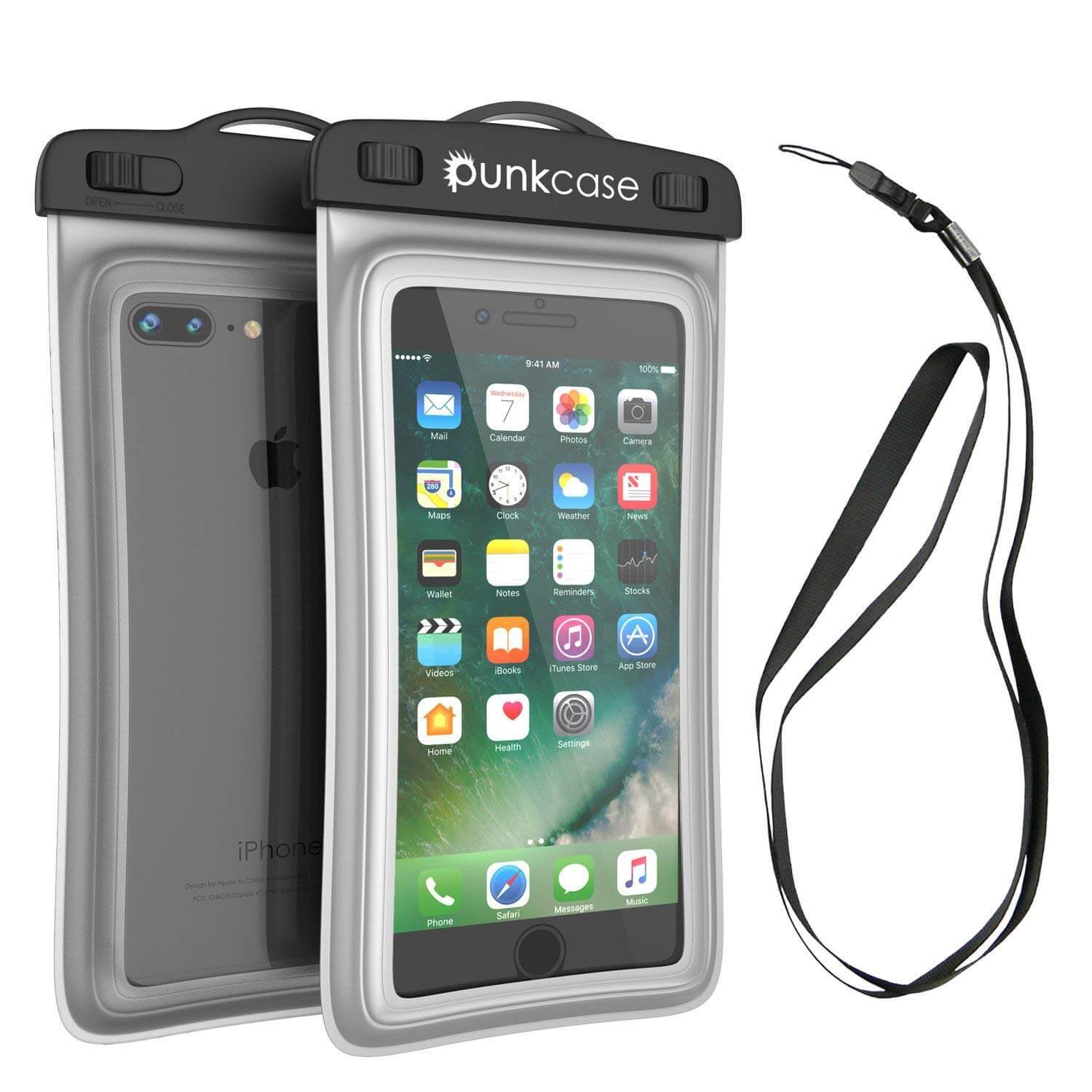 Waterproof Phone Pouch, PunkBag Universal Floating Dry Case Bag for most Cell Phones [Clear]