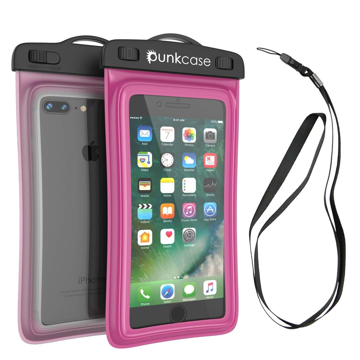Waterproof Phone Pouch, PunkBag Universal Floating Dry Case Bag for most Cell Phones [Pink]