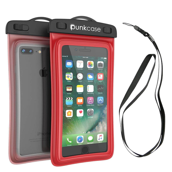 Waterproof Phone Pouch, PunkBag Universal Floating Dry Case Bag for most Cell Phones [Red]