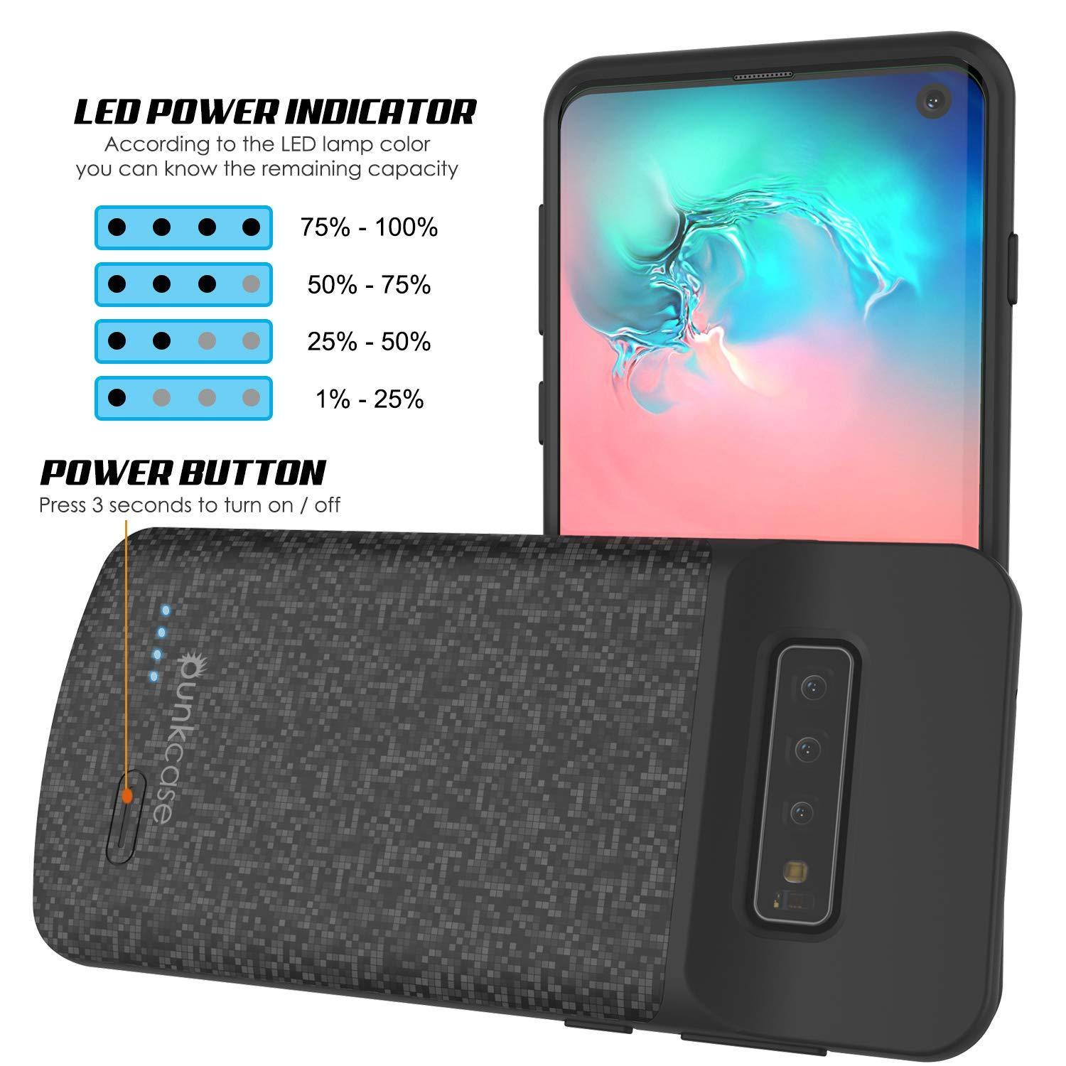 PunkJuice S10 Battery Case Black - Fast Charging Power Juice Bank with 4700mAh