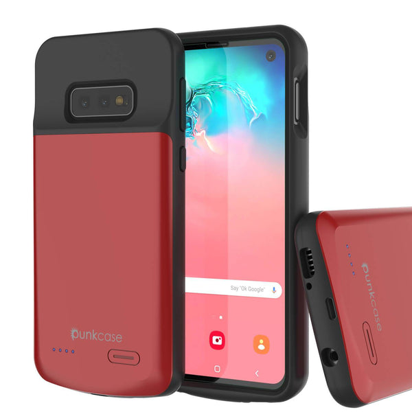 PunkJuice S10e Battery Case Red - Fast Charging Power Juice Bank with 4700mAh