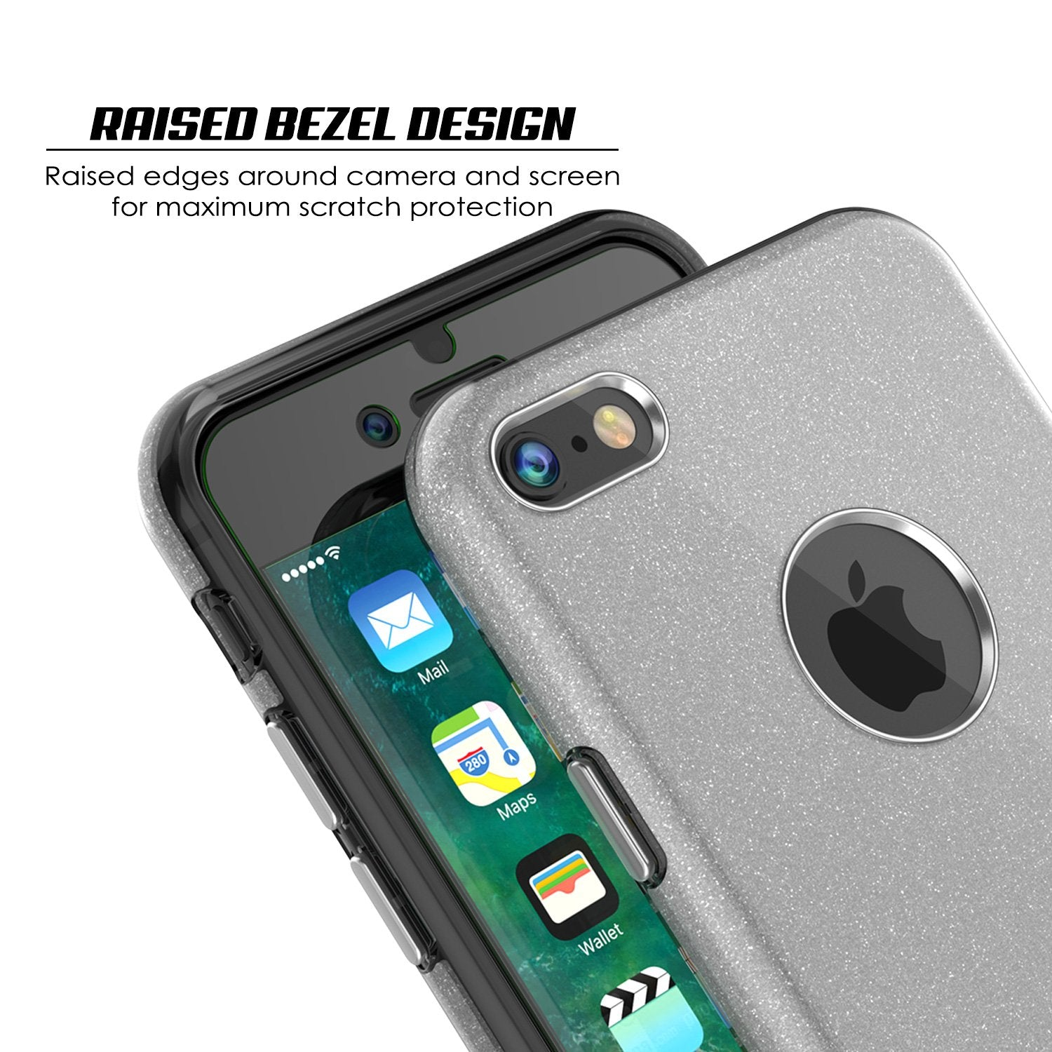 iPhone 8 Case, Punkcase Galactic 2.0 Series Ultra Slim Protective Armor TPU Cover [Silver]